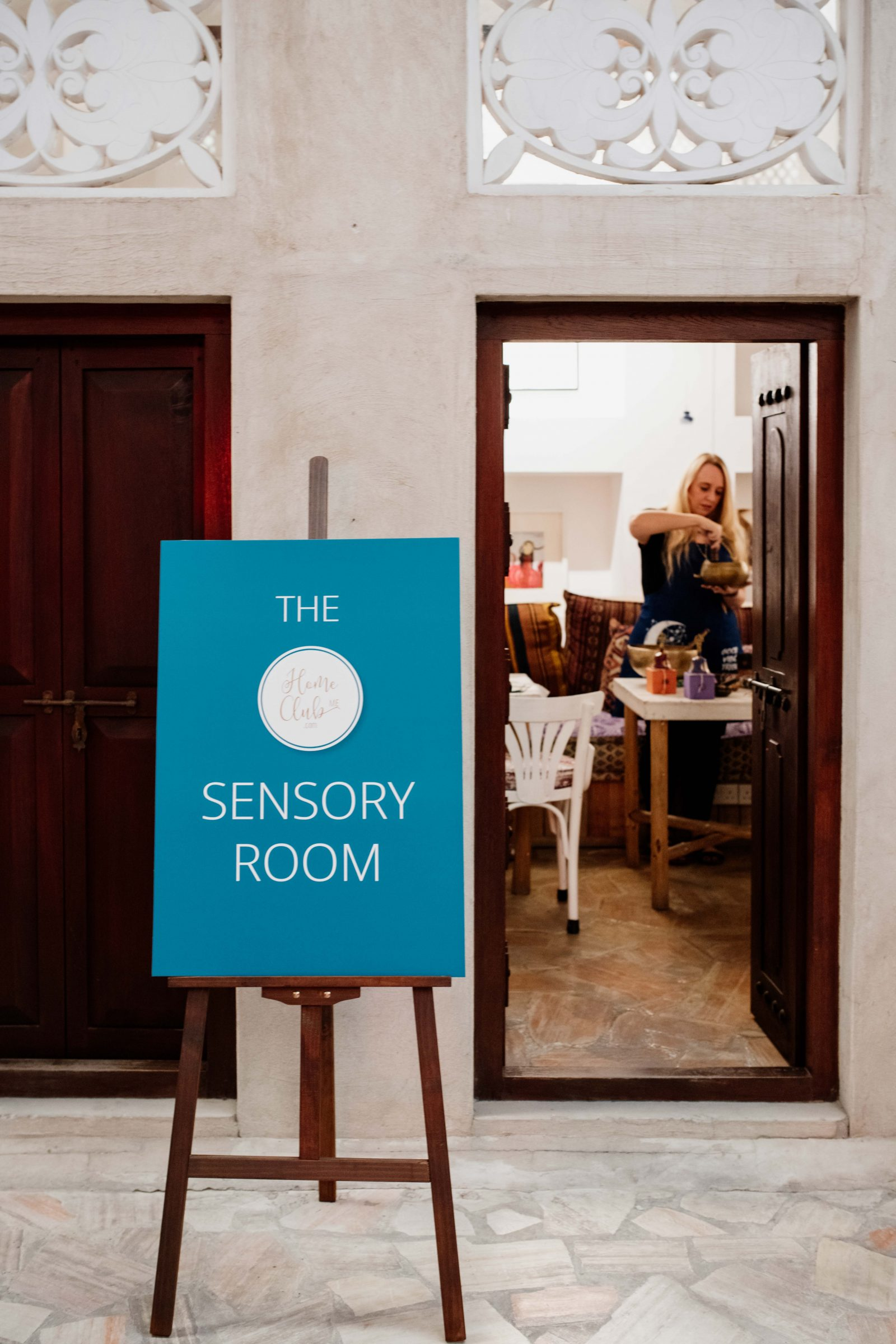 Home Club ME Sensory Room easel sign