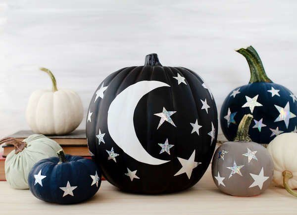 Star and moon pumpkins