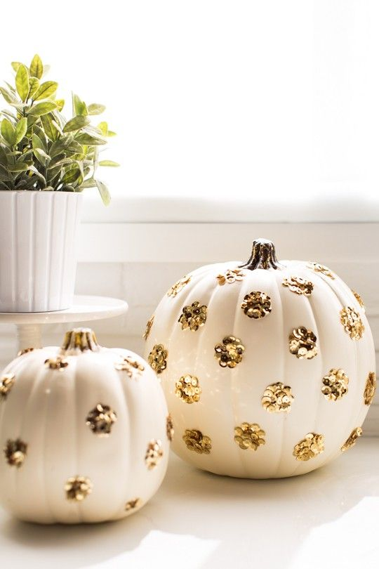 Sequin pumpkins