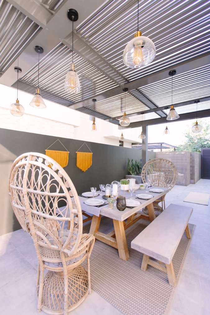 Stunning garden dining table and chairs