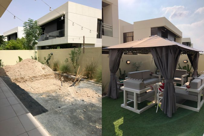 Damac Hills villa pre makeover