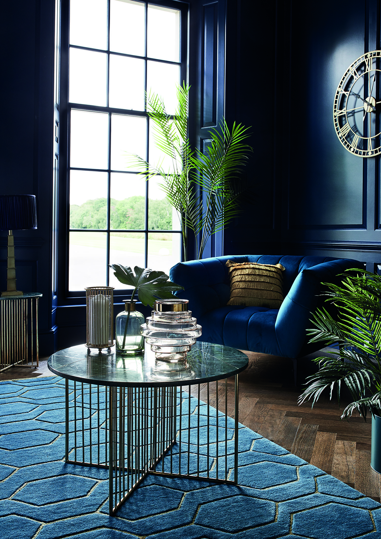 Statement blue living room