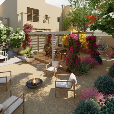 A sustainable garden in Dubai made by Wilden