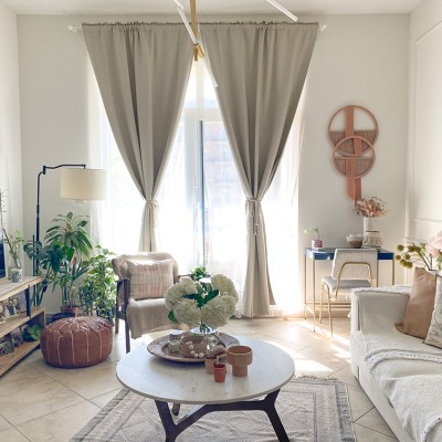 A living room filled with furniture by Vivianne Khoury