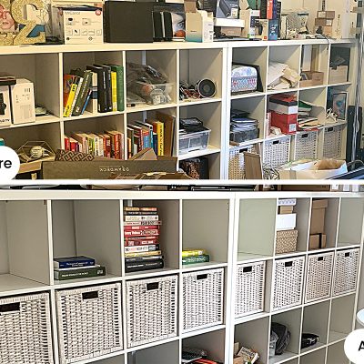 An organized space in Dubai by Calm the Clutter